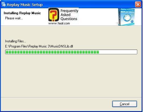 ההתקנה החלה, תוכנת Replay Music