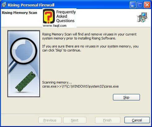 סורק זיכרון,תוכנת Rising Personal Firewall