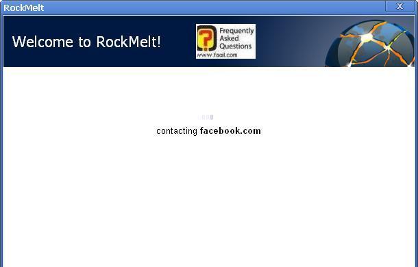 מתחבר לשרת פייסבוק בדפדפן החברתי