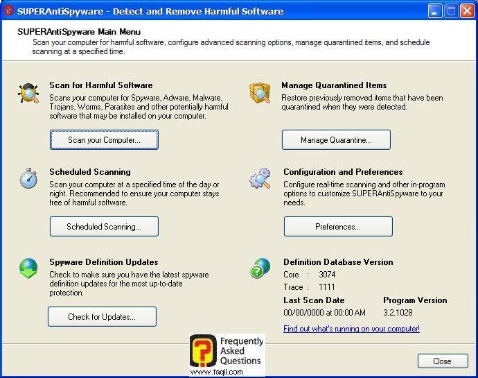 סריקת כל המחשב, SuperAntiSpyware Free Edition