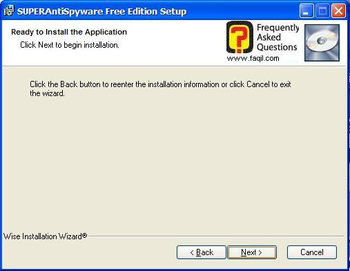 לפני התקנה, SuperAntiSpyware Free Edition