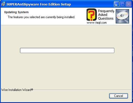 ההתקנה החלה, SuperAntiSpyware Free Edition