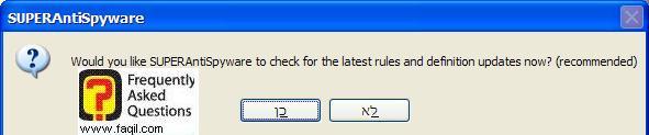 האם ברצוננו לעדכן את התוכנה, SuperAntiSpyware Free Edition