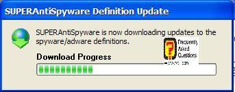 הורדה והתקנה של העדכון, SuperAntiSpyware Free Edition