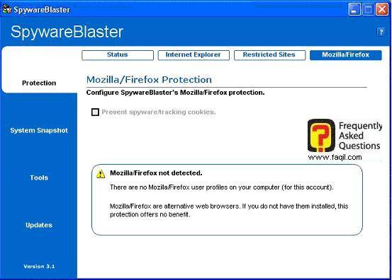 הגנה על פיירפוקס,SpywareBlaster