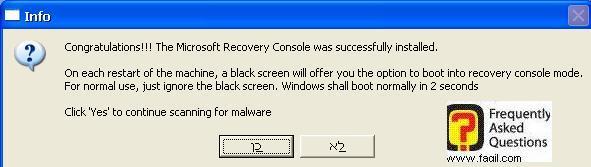 סיים בהצלחה את הנקודת שחזור,תוכנת  Combofix