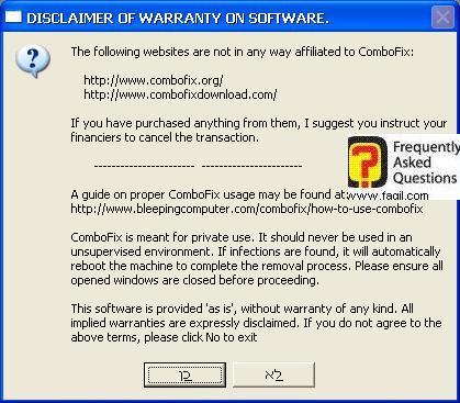 מסך מידע,תוכנת  Combofix