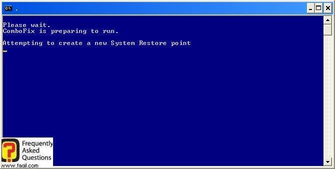 יצירת נקודת שחזור לפני,תוכנת  Combofix