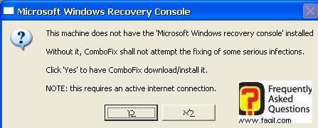 כן ליצירת נקודת שחזור,תוכנת  Combofix