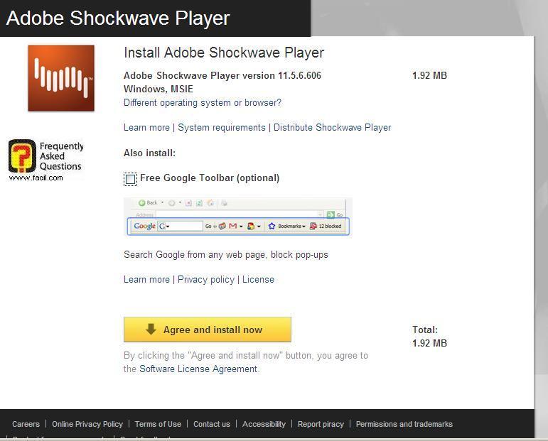 אתר התקנת shockwave ,המפעילה משחקי פלאש