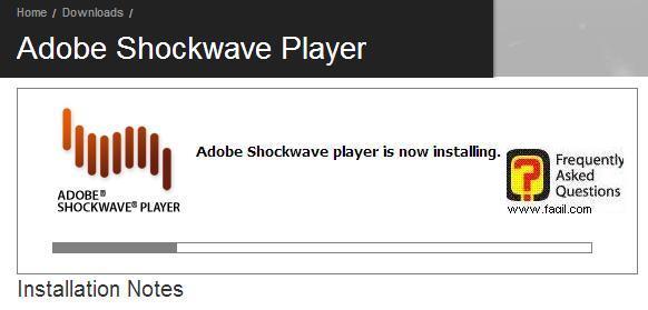 החלה ההתקנה של shockwave