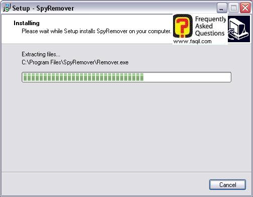 ההתקנה החלה,תוכנת SPYREMOVER