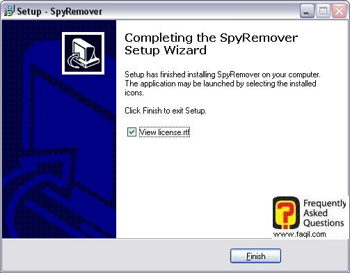 ההתקנה הסתיימה,תוכנת SPYREMOVER