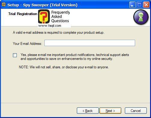 סיריאל לניסיון בהתקנה,Spy Sweeper 5