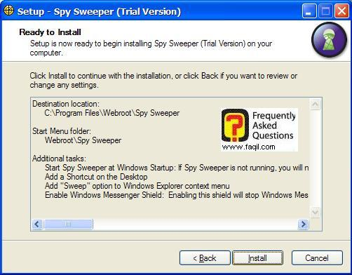 קרא לפני התקנה,Spy Sweeper 5