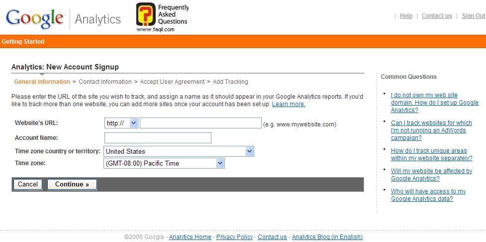 כתיבת כתובת האתר, גוגל אנליסט