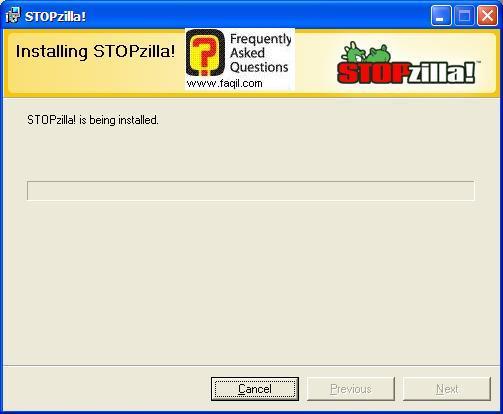 ההתקנה החלה,תוכנת STOPzilla!