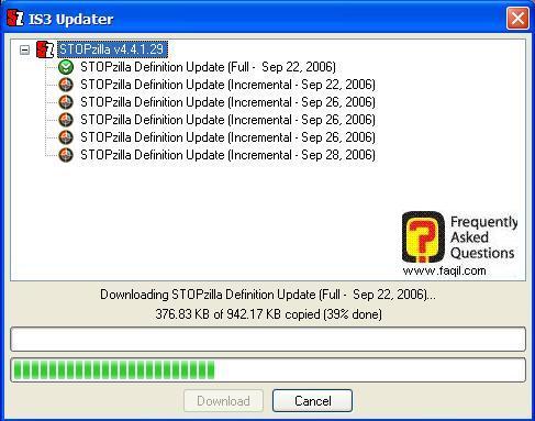 התוכנה מתעדכנת,תוכנת STOPzilla!