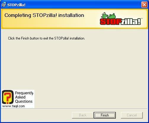 התתקנה הסתיימה,תוכנת STOPzilla!