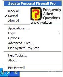 כניסה ,Sygate Personal Firewall Pro