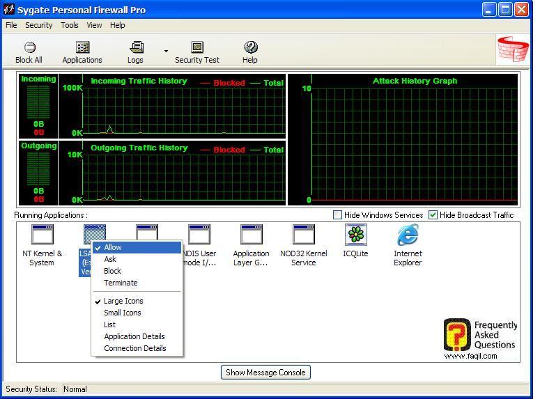 התוכנית הרצויה,Sygate Personal Firewall Pro