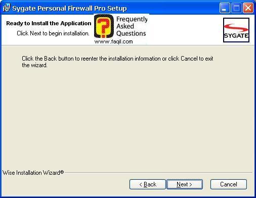 קרא לפני התקנה,Sygate Personal Firewall Pro