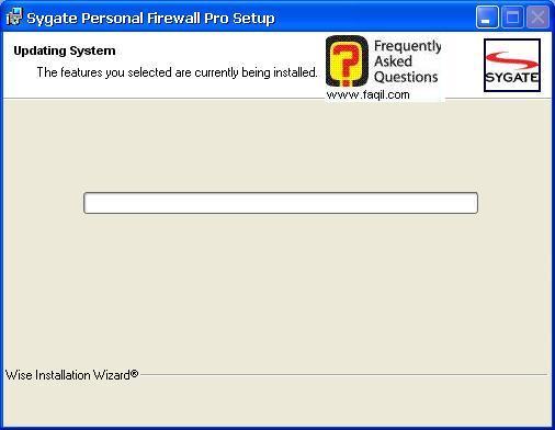 ההתקנה החלה,Sygate Personal Firewall Pro