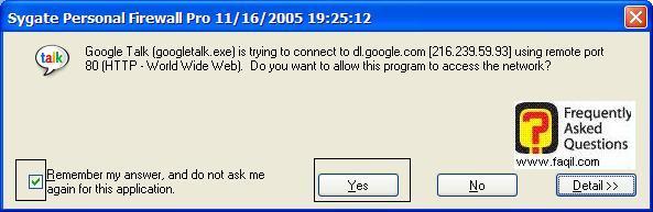 אישור תוכנית,Sygate Personal Firewall Pro