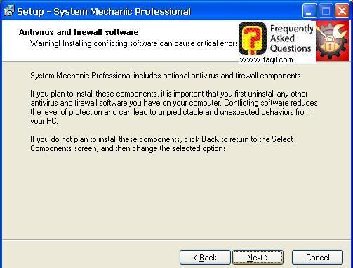 תפריט מהיר בהתקנה, system mechanic 7 pro