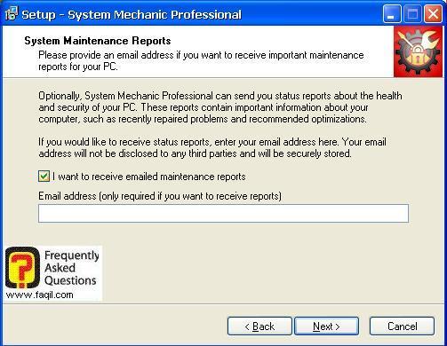 עידכונים לאימייל לגבי מצב המחשב , system mechanic 7 pro