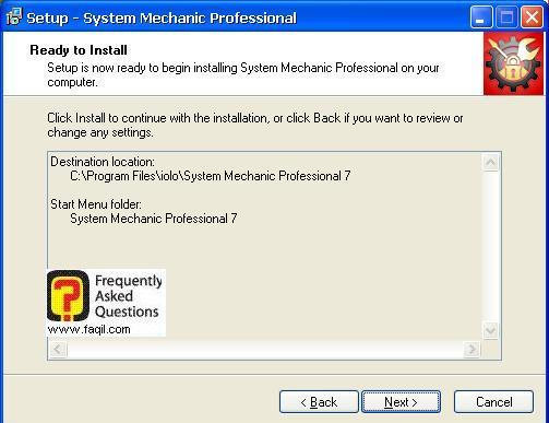 מסך קרא לפני ההתקנה, system mechanic 7 pro