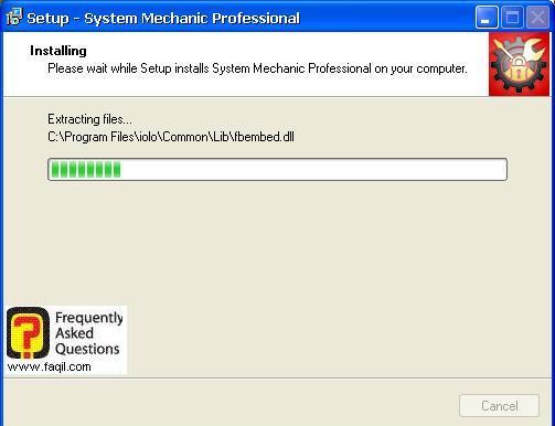 ההתקנה החלה, system mechanic 7 pro