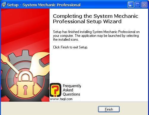 סיום ההתקנה, system mechanic 7 pro