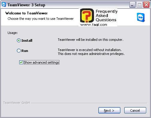 מסך ברוכים הבאים ,ואפשרויות התוכנה,teamviewer