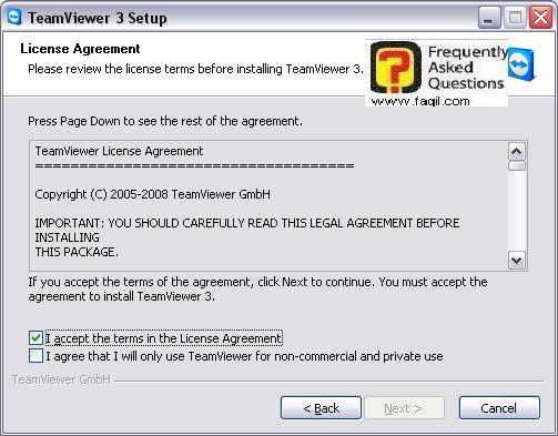 הסכם הרישיון בהתקנה,teamviewer