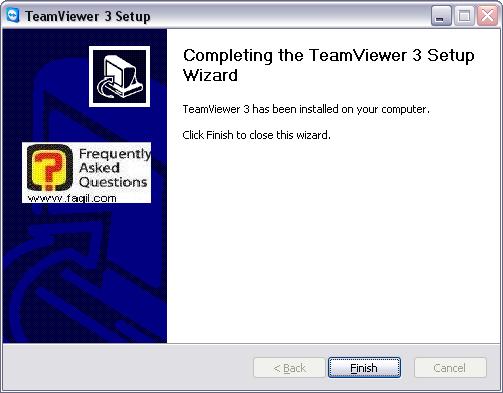 ההתקנה הסתיימה,teamviewer