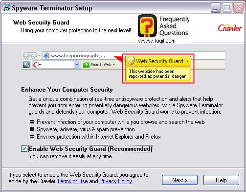 הצעה לכלי ,spyware terminator