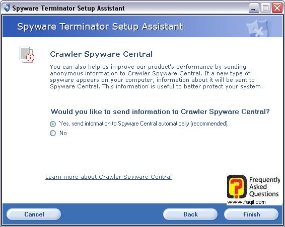 מידע על רוגלות חדשות שהתגלו,spyware terminator