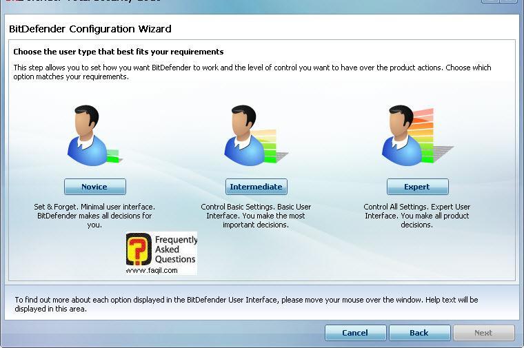 בחרו סוג המשתמש המתאים,BitDefender Total Security 2010