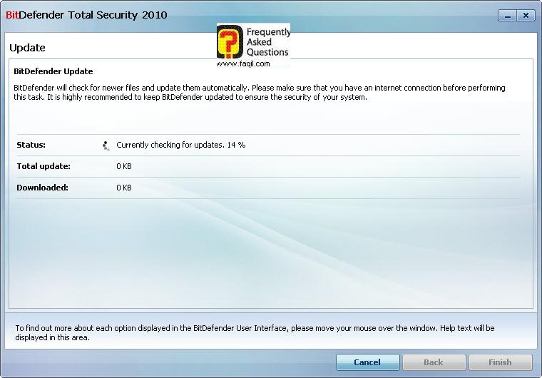 מעדכן כעת,BitDefender Total Security 2010