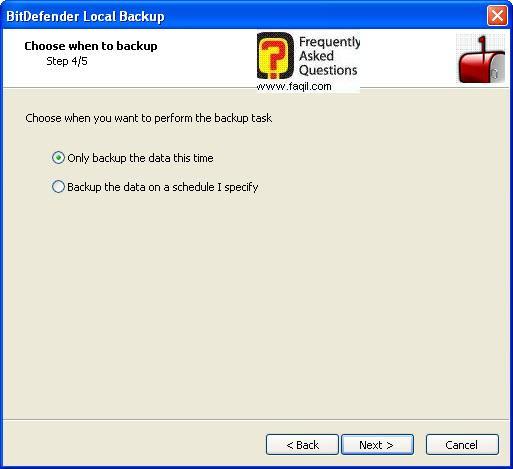בחירת התיקייה לגיבוי,BitDefender Total Security 2010
