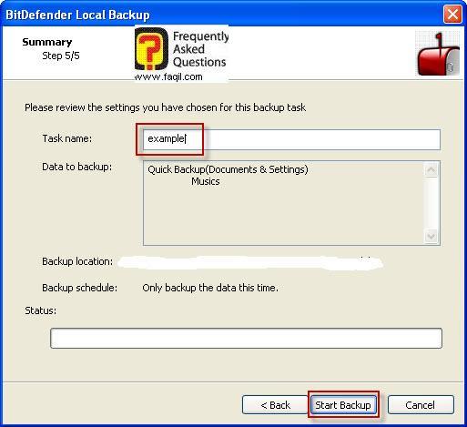 גיבוי קבצים אחרים ,BitDefender Total Security 2010
