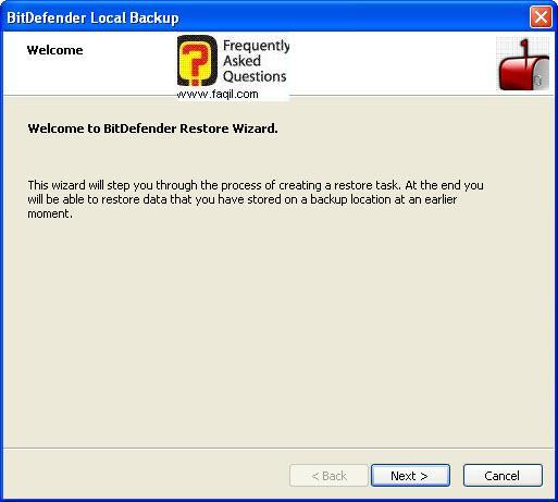 בחירת שם לגיבוי,BitDefender Total Security 2010