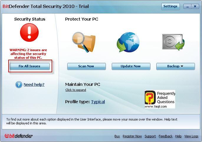 השם המשוחזר,BitDefender Total Security 2010