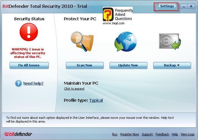 מתקן כעת,BitDefender Total Security 2010