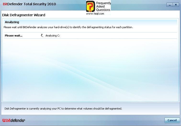מאחה כעת את הכונן,BitDefender Total Security 2010