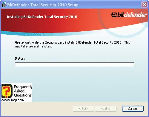 ההתקנה החלה,BitDefender Total Security 2010