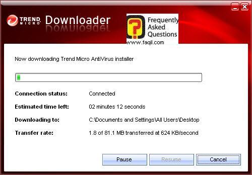 המתינו להורדת הקובץ המלא, TrendMicro AntiVirus plus AntiSpyware 2010