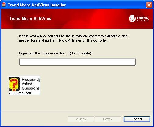 המתינו לפתיחת הקובץ, TrendMicro AntiVirus plus AntiSpyware 2010