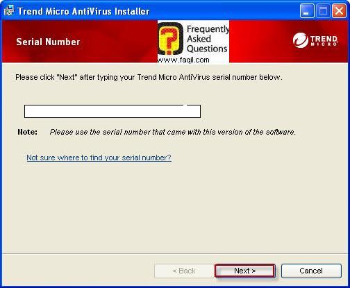 הקשת הקוד רישיון שקיבלתם , TrendMicro AntiVirus plus AntiSpyware 2010